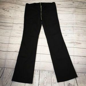 Sexy Cotton Blend Black Rocker Pants Zipper